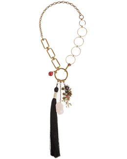 Bead And Tassel-embellished Necklace