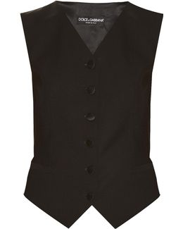 Satin-backed Wool And Silk-blend Waistcoat