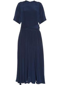 Dropped-waist Silk Crepe De Chine Dress