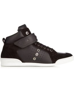 Lewis High-top Leather Trainers