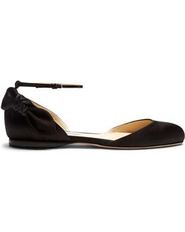 Kirsty Bow-back Satin Ballet Flats