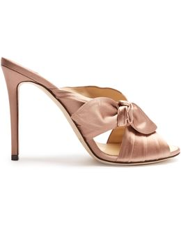 Keely 100mm Satin Mules