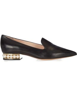Casati Pearl-heeled Leather Loafers