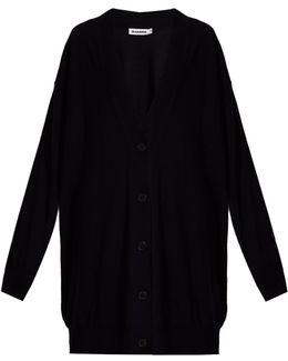 Long-line Wool Cardigan