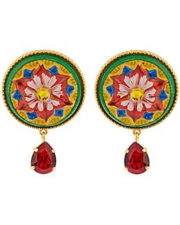 Daisy Crystal-embellished Earrings
