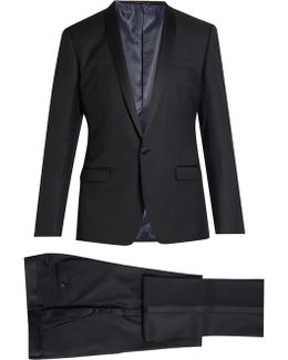Shawl-lapel Wool And Silk-blend Tuxedo