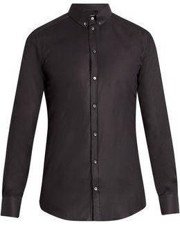 Gold-fit Diamond-jacquard Single-cuff Shirt