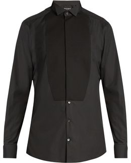 Gold-fit Double-cuff Cotton Dinner Shirt