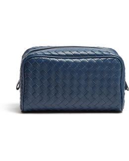 Small Intrecciato Leather Washbag