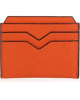 Grained-leather Cardholder
