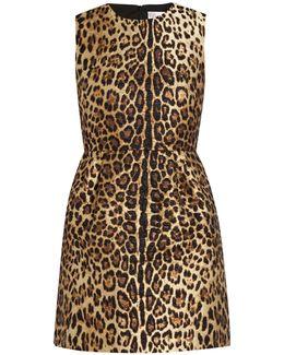 Leopard-jacquard Dress