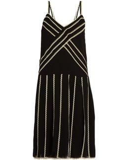 Lace-trimmed Georgette Dress