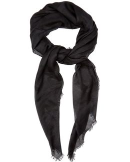 Camouflage-print Cashmere-blend Scarf