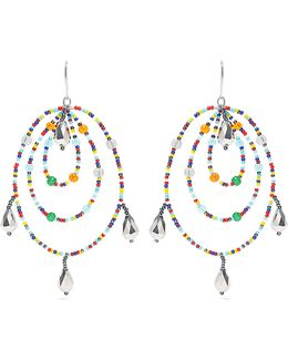 Beaded Triple-hoop Earrings