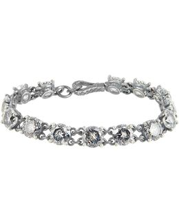 Cubic Zirconia And Silver Bracelet