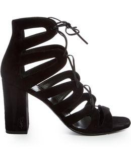 Babies Lace-up Suede Sandals