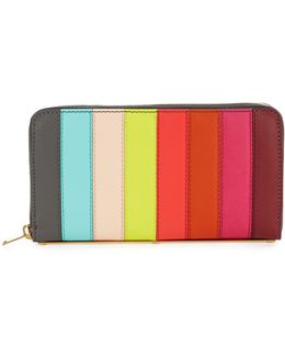 Roseberry Rainbow Striped Leather Wallet