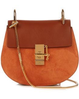 Drew Small Leather And Suede Cross-body Bag