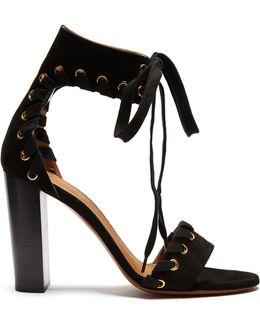 Miles Lace-up Suede Sandals