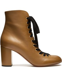 Miles Lace-up Leather Ankle Boots