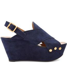 Mischa Suede Platform Wedge Sandals
