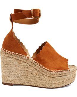 Lauren Suede Espadrille Wedge Sandals