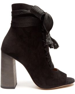 Harper Lace-up Suede Ankle Boots