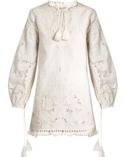 Marina Embroidered Cotton Kaftan