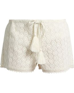 Broderie-anglaise Cotton Shorts