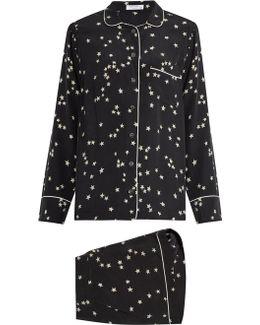 Lillian Stars-print Silk-crepe Pyjama Set