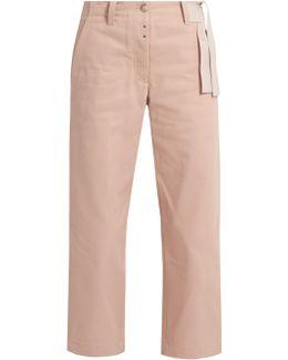 Waist-tie Wide-leg Cropped Jeans