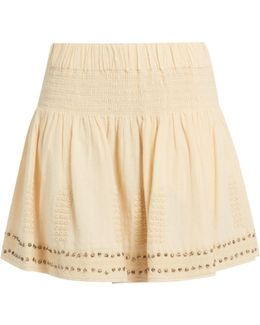 Alea Cotton-blend Embellished Skirt