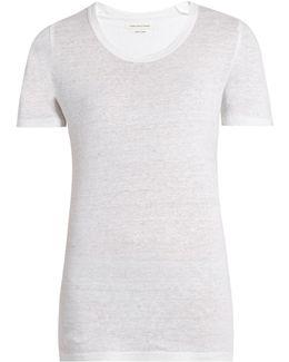 Kiliann Slub-linen T-shirt