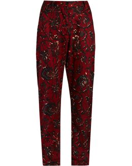 Janelle Floral-print Trousers