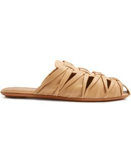 Capri Leather Slides