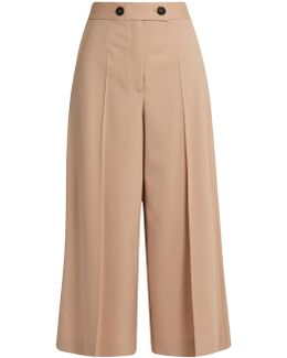 High-rise Wool Culottes