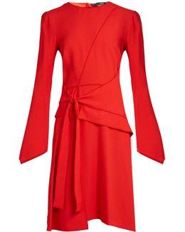 Asymmetric Panelled Crepe Dress