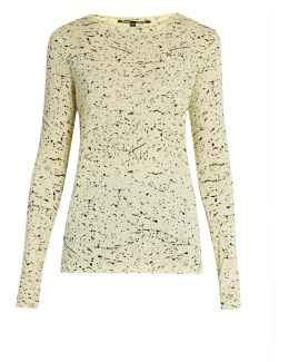 Splatter-print Cotton-jersey T-shirt