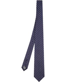 Polka-dot Embroidered Tie