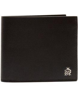 Engine Turn Bi-fold Leather Wallet