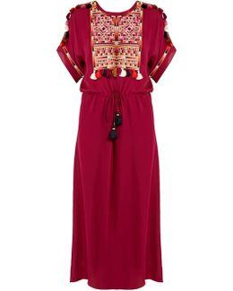 Naya Embroidered Silk-georgette Dress
