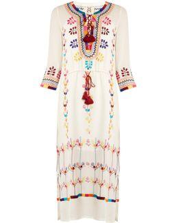 Heidi Embroidered Silk Dress