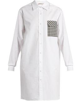 Gingham-pocket Cotton-poplin Shirtdress