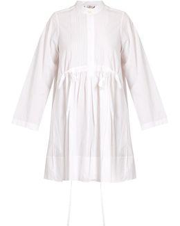 Pintucked Cotton-poplin Dress
