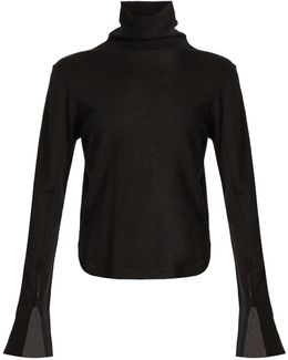 Roll-neck Wool, Silk And Cashmere-blend Sweater