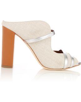 Maureen Natural Linen Sandals