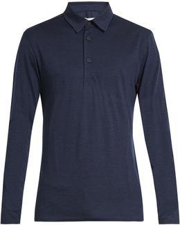 Linwood Long-sleeved Wool Polo Shirt
