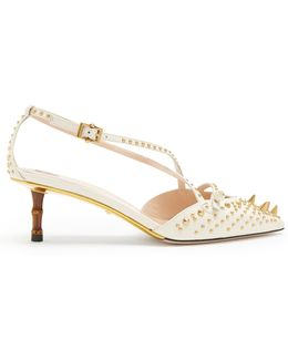 Unia Studded Leather Pumps