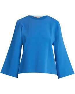 Round-neck Cut-out Sleeve Sweater