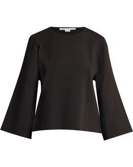 Round-neck Slashed-sleeve Sweater